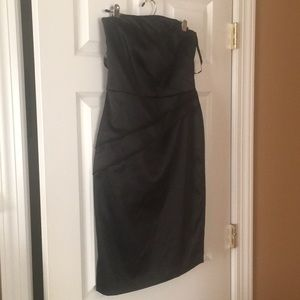 Strapless black dress by White /Black